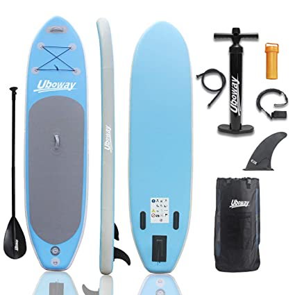 Stand Up Paddle Boards >> Amazon Com Uboway Inflatable Stand Up Paddle Board 6 Thick Isup