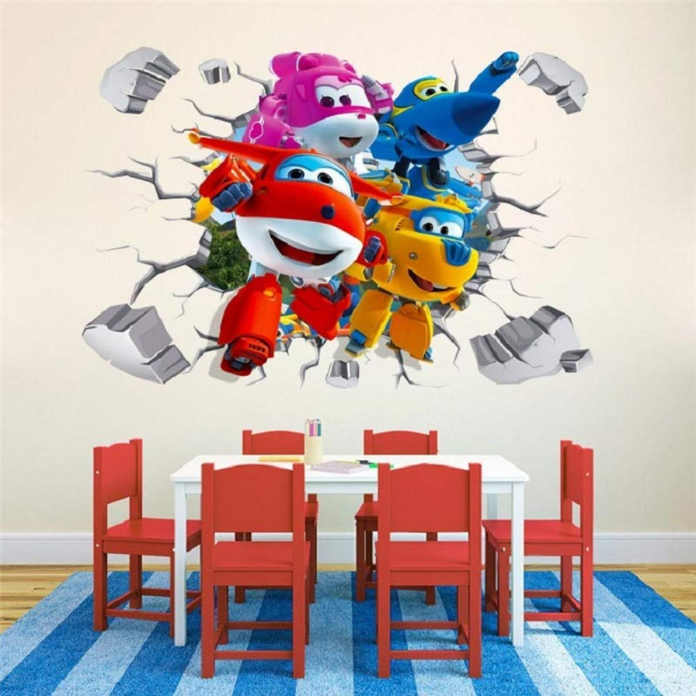 YUSDK Cartoon Super Wings 3D Wandaufkleber Kinder Dekoration Anime Poster Shorthand Aufkleber Spiel Papier Kinder Kinder
