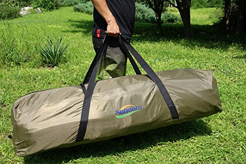 SUNOOM Double Canvas Swag Tent with Fire-Retardant Waterproof and Heat Preservation Fabric Material + Sleeping Pad / Mattress + Carry Bag (2 Person) by SUNOOM (Image #1)