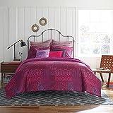 Anthology Kylie Elephant Native Pink Medallion Bohemian Duvet Twin/Twin XL Comforter for Girls