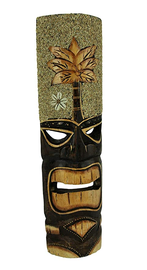 Amazon.com: Things2Die4 Tiki máscara de madera tallada a ...
