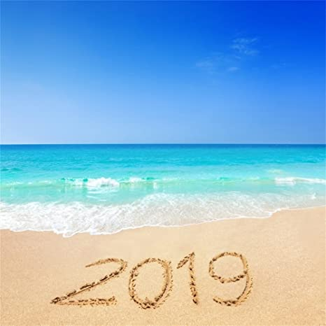 ofila 2019 new year tropical beach backdrop 6x6ft new year celebration photography background seaside holidays 2019