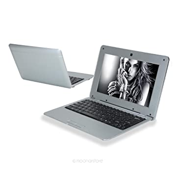 kingsa® Ordenador portátil Mini PC Netbook - Google Android 5.0 - WiFi - SD - Webcam - 4 GB DD - Pantalla 10 Pulgadas - Gris: Amazon.es: Informática