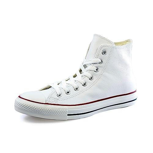 e0f2d97184b03 Converse - Zapatillas de Deporte de Cuero para Mujer Blanco Blanco 36.5   Amazon.es  Zapatos y complementos