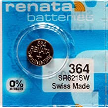 2PC RENATA 364 Silver Oxide Coin Cell Batteries 1.55V - Swiss Made