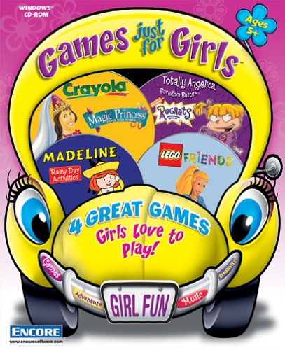 Games Just For Girls 2 (Lego - Friends, Rugrats - Angelica Bordom Buster, Crayola - Magic Princess, Madeline - Rainy Day)