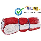 Willage Badminton Net Nylon,Niwar and Tetron Tape Practice Net Court Net