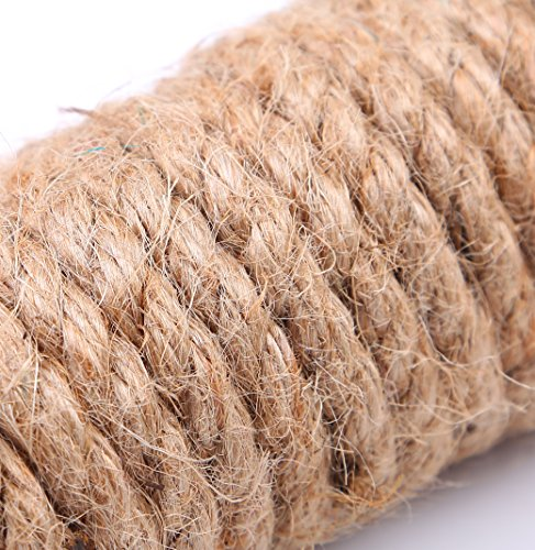 E-FirstFeeling-100-Natural-Hemp-Rope-16-Feet-5-meters-Jute-Rope-Cord-DIY-Rope-Pack-of-3Total-48-Feet-in-Length