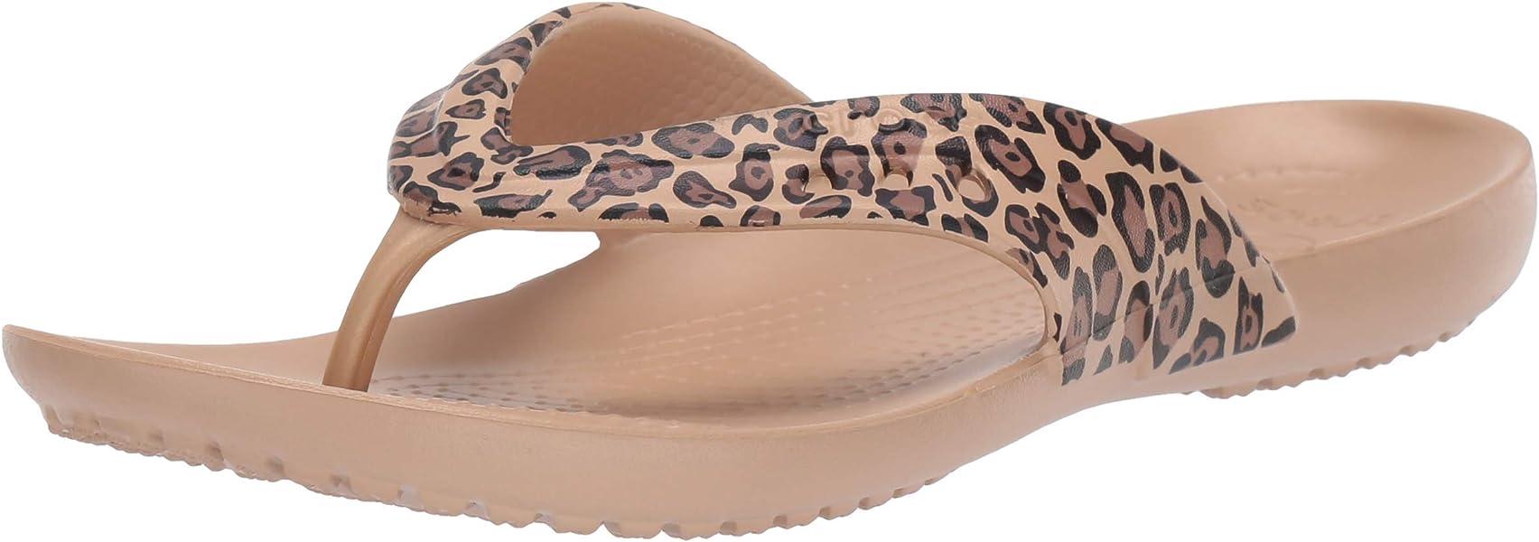 562d43535 Crocs Women s Kadee Leopard Print Flip-Flop