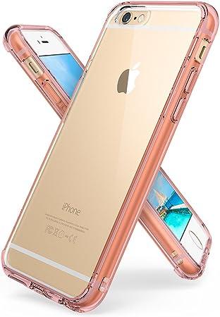 Ringke [Fusion Funda Apple iPhone 6s / iPhone 6 Transparente al Dorso del PC y Frente al TPU [Tecnologia para Proteccion a la Caida] Protectiva con Armadura Mejorada, Rose Gold Crystal: Amazon.es: