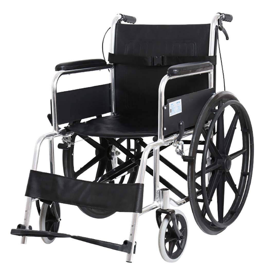 【ラッピング無料】 HSBAIS Seat 輸送車いす軽量折りたたみ B07LF6CDWF、アルミニウム合金チューブ頑丈で耐久性のある簡単な移動,black_17