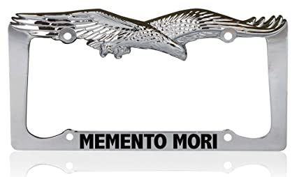 custom brother memento mori christianity religious jesus eagle metal chrome license plate frame license