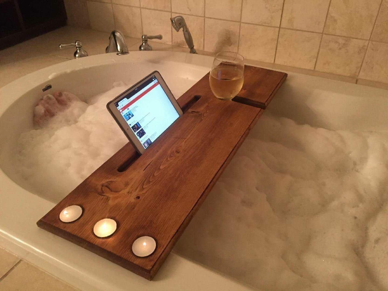 Handmade Bath Caddy, solid pine