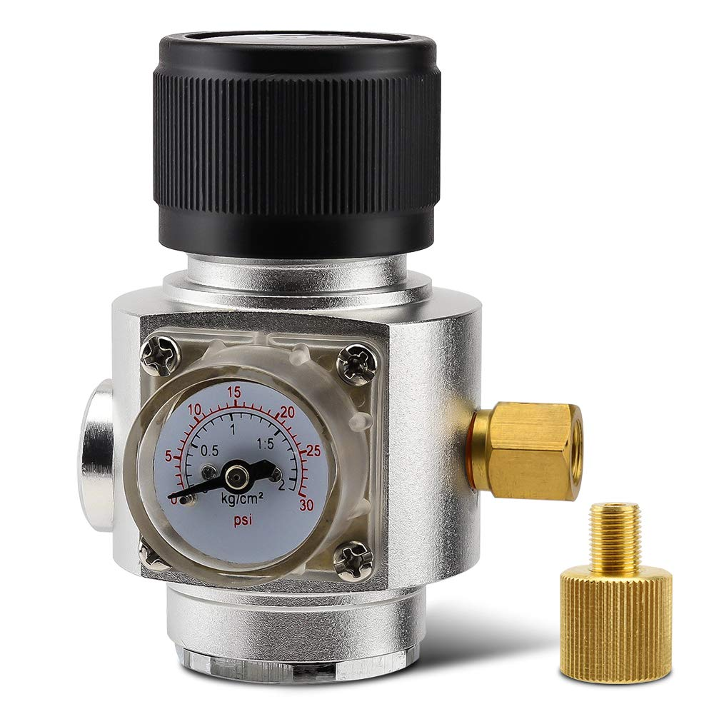 Mini CO2 Gas Regular 0-30PSI Keg Charger with '' 3/8 '' Thread for Homebrew Beer Kegging by MRbrew