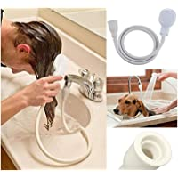 Shine Single Tap Shower Spray Hose Bath Tub Sink Spray Attachment Head Washing Indoors PVC