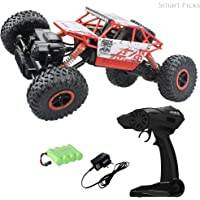 Smart Picks Rechargeable 4wd Rally Car Rock Crawling R/C Monster Truck (Red)