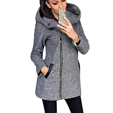 Moonuy Damen Strickjacke Mantel Damen Mädchen Winter Herbst Hoodie