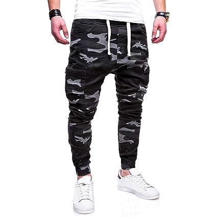 Pantalones de yoga casuales, a la moda, para hombre, sólidos ...