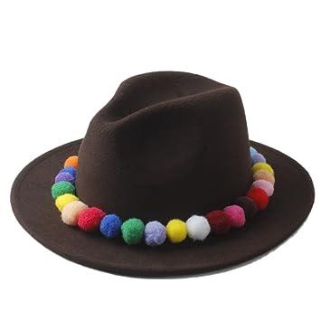 cc180f7b06ab1 Buen sombrero Mujeres de moda 100% de lana de fieltro de invierno Sombrero  de Fedora ...