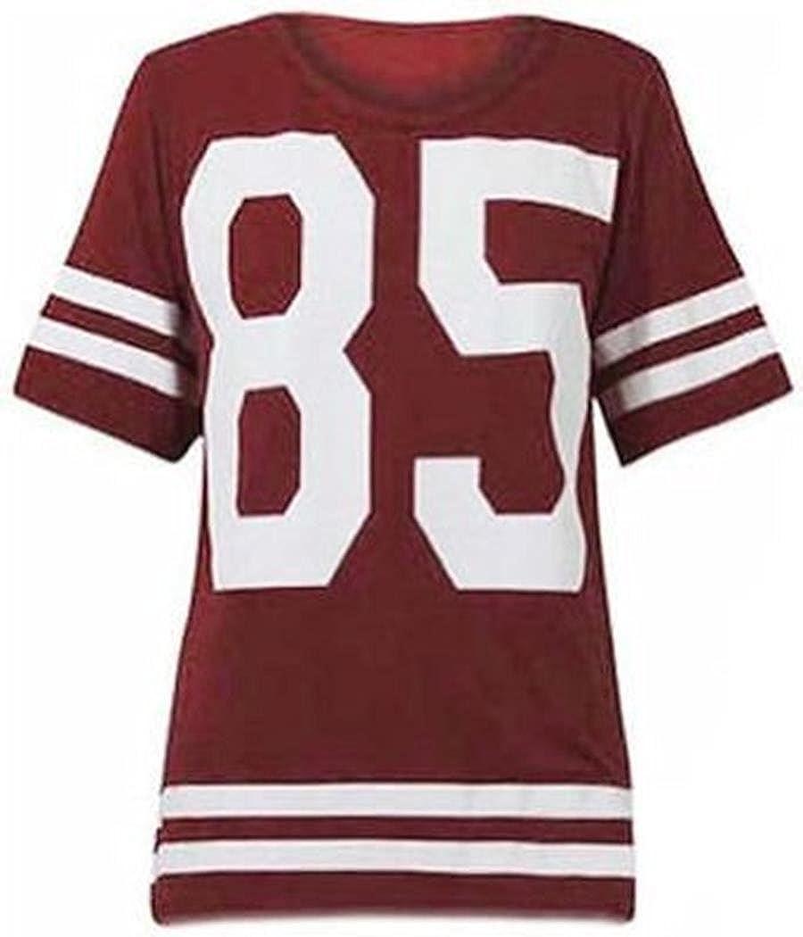 cima mode women u0027s oversized 85 football jersey t shirt at amazon