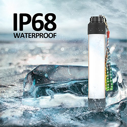 CREATE BRIGHT Camping Lights Waterproof IP68 Portable Work Light Lantern Flashlights with Powerbank 6000mAh Battery,Emergency Night Lamp 6 Lighting Modes for Camping, Fishing, Emergency, Riding by CREATE BRIGHT (Image #4)