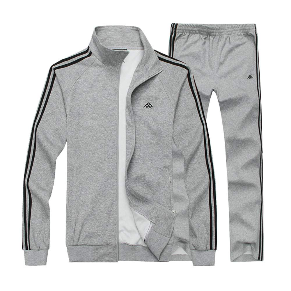 Manluo Mens Winter Sweatsuits Warm Tracksuits Thick Sports Suits Hoodies Casual