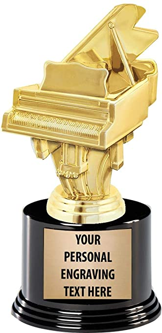 6 Gold Piano Trophies Personalized Piano Music Trophy Awards