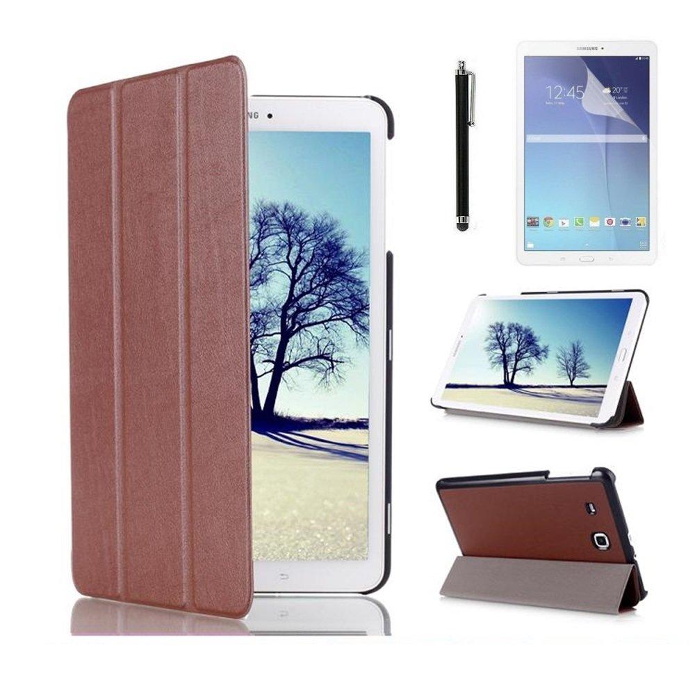 Samsung Galaxy Tab E 8.0 SM-T377 Case, Samsung Tab E 8 inch Tablet Case, Ultra Slim Premium PU Leather Folio Case for Samsung Galaxy Tab E 8.0 T377 / T375+ Screen Protector + Stylus DETUOSI PBMN005935CA