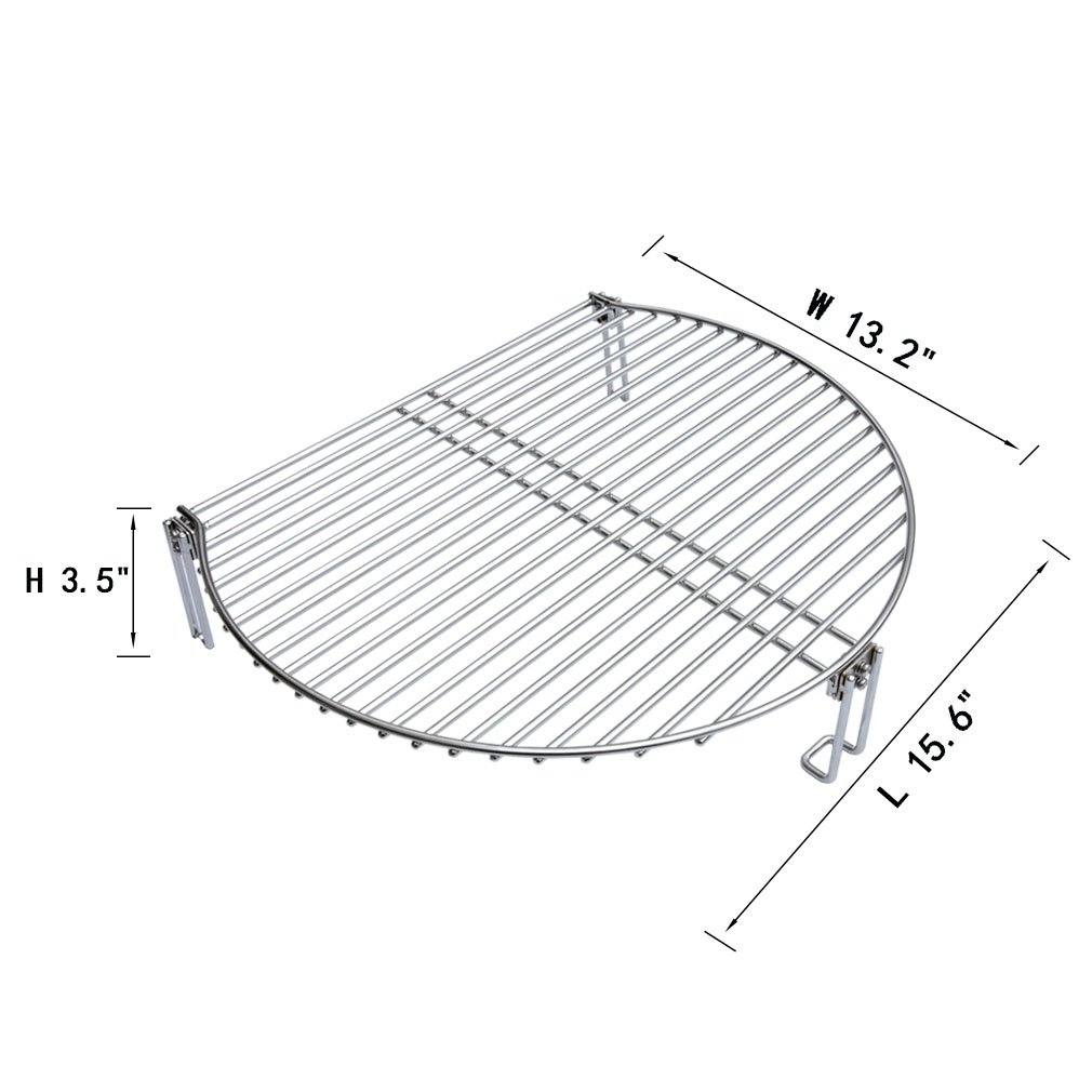 amazon onlyfire stainless steel grill expander cooking grate Home Kitchen Fire Suppression onlyfire stainless steel grill expander cooking grate fits for charcoal kettle grills like weber char broil and ceramic grills like large big green egg