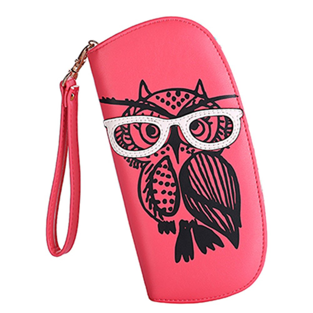 Women's Designer Lovely Glasses Owl Purse Cute Leather Long Wallet Ladies' Fashion Clutch Card & Id Holders Generic