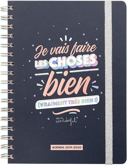 Agenda clásica 2019-2020 semanal – Je Vais faire les Choses Bien ...