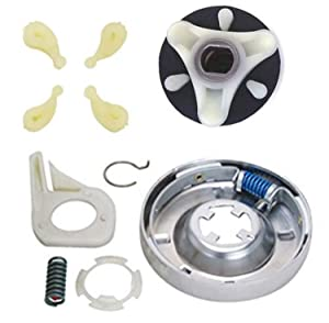 Siwdoy 285785 Washer Clutch Kit, 285753A Motor Coupling Kit and 4 pcs 80040 Washer Agitator Dog for Whirlpool & Kenmore Washer 285331, 3351342, 3946794, 3951311, AP3094537