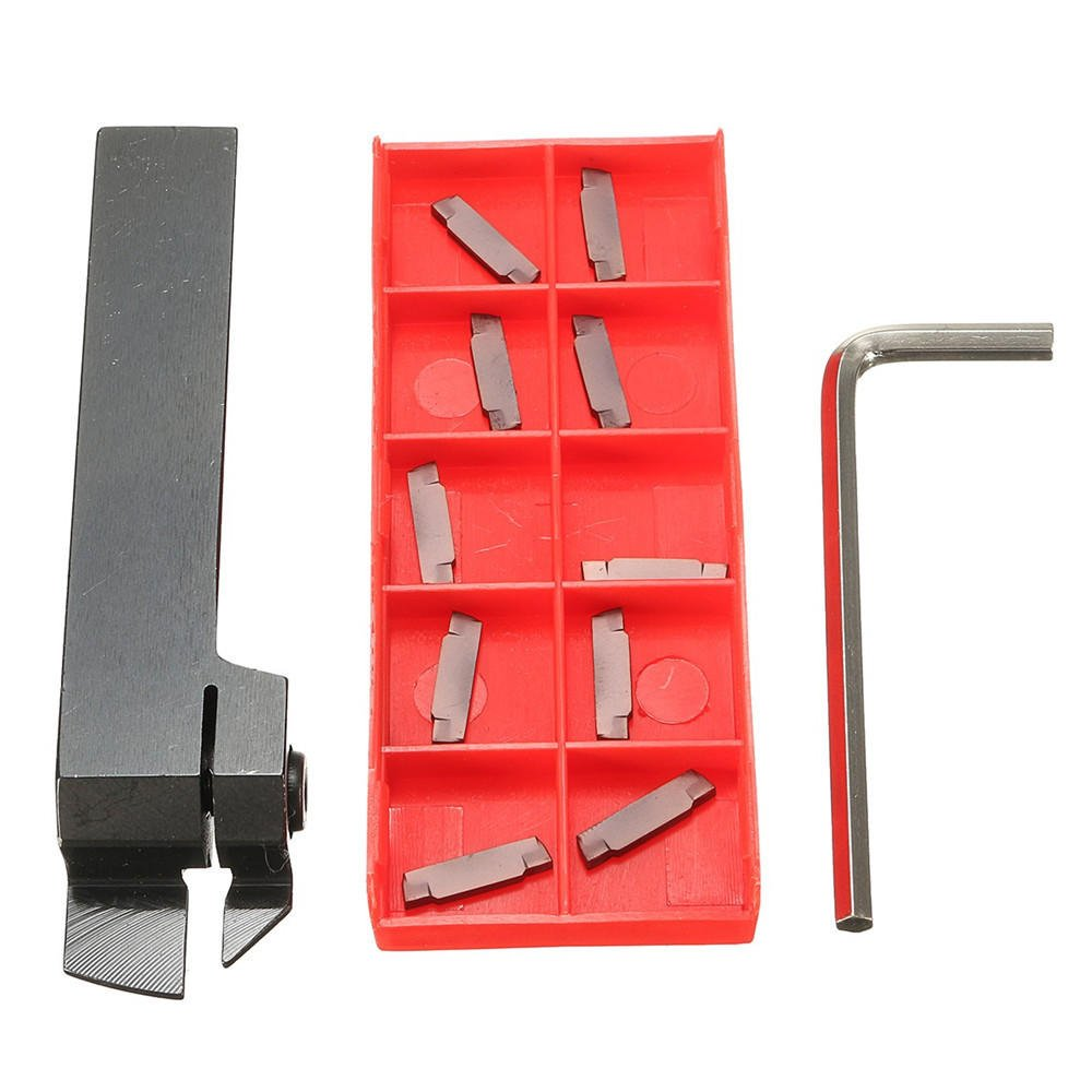 Insert not Included 1//2 Cut-Off Holder MGEHR08-2J of 2387-2004 Parting Tool AccusizeTools