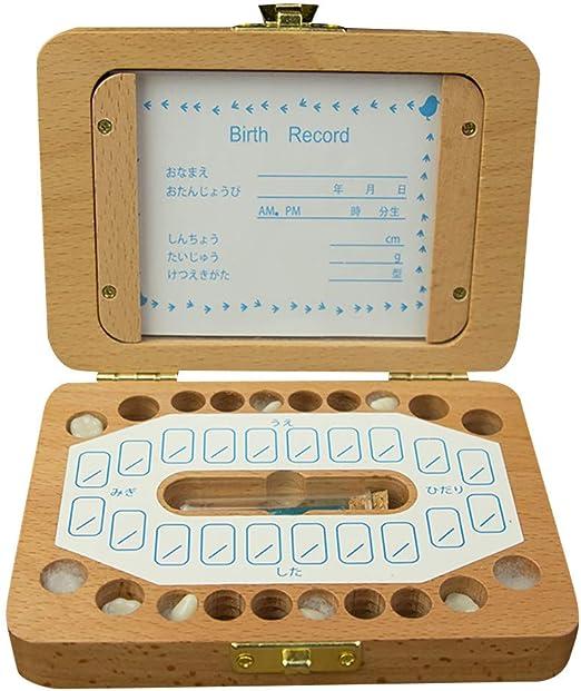 Rifuli® - Caja de almacenamiento para niños Boy & Girl, dientes ...