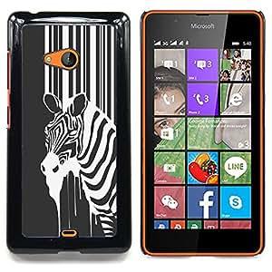 B&W Zebra Caja protectora de pl??stico duro Dise?¡Àado King Case For Microsoft Nokia Lumia 540 N540