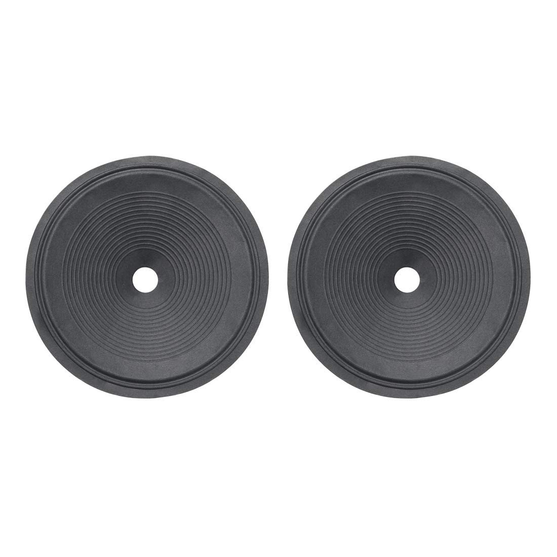 uxcell 10'' Paper Speaker Cone Subwoofer Drum Ripple Paper 1'' Coil Diameter with 2 Surround 2 Pcs