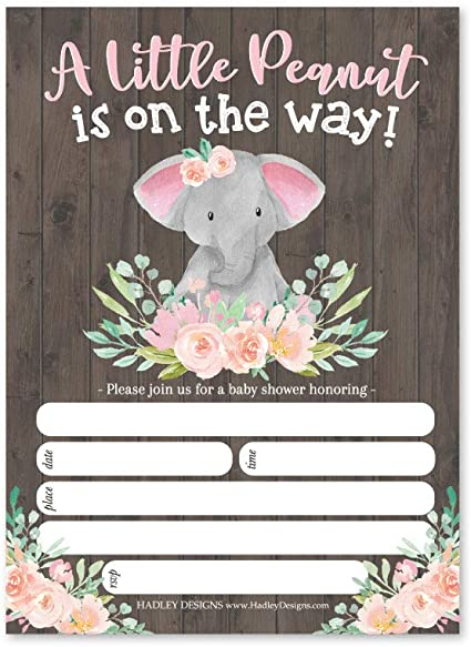 Amazon Com 25 Girl Elephant Baby Shower Invitations Sprinkle Invite For Girl Coed Pink Rustic Gender Reveal Theme Cute Animal Peanut Diy Fill Or Write In Blank Printable Card Greenery Garden Party Supplies,Pottery Barn Kids Bedroom Set