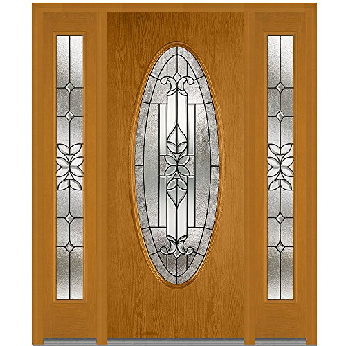 Plastpro National Door Company Z006820L Fiberglass Oak Fr...