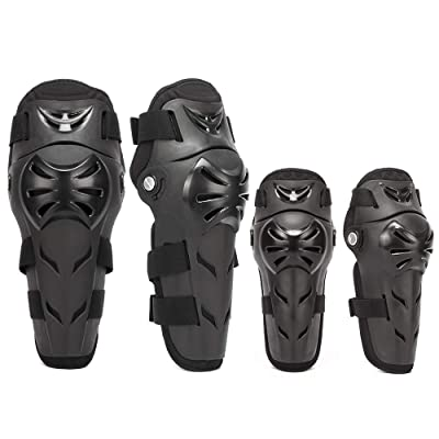4Pcs Motorcycle Knee Elbow Pads Protection Motocross Racing Knee Shin Guards Protective Gear for Adults: Automotive
