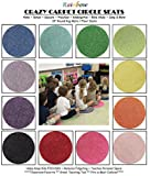 "24 Rainbow Kids CraZy CarPet CirCle SeaTs 18"" Round Soft Warm Floor Mat - Cushions 