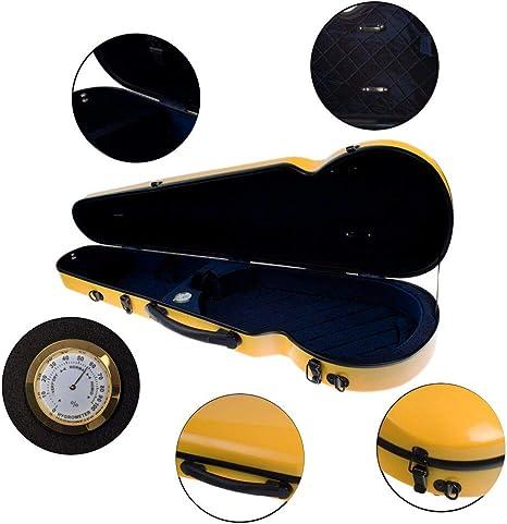 Bolsa de almacenamiento para violín amarilla, caja rígida con 2 ...