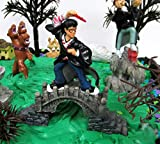 WIZARDING WORLD Birthday Cake Topper Set of Witchcraft and Wizardry Featuring Character Figures and Decorative Accessories