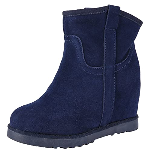 chaussures élégantes qualité profiter de prix pas cher Oasap Femme Boots Bout Rond Couleur Pure Talons Compensés Wedge Bottes  Chaussure Montantes Wedge Bottes Chaussure Montantes