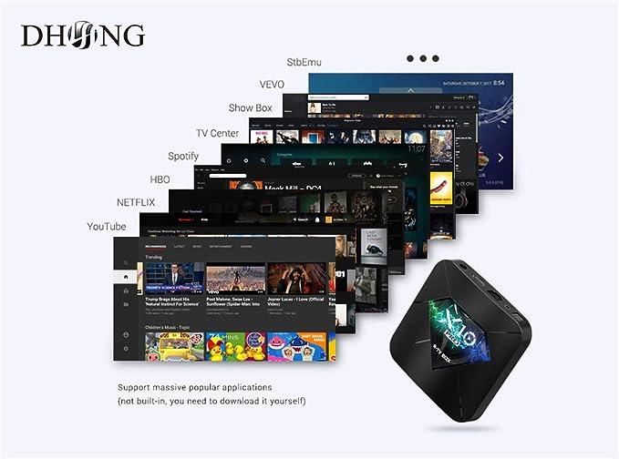 Amazon com: DHong Android 8 1 TV Box, X10 Pro Amlogic S905X2