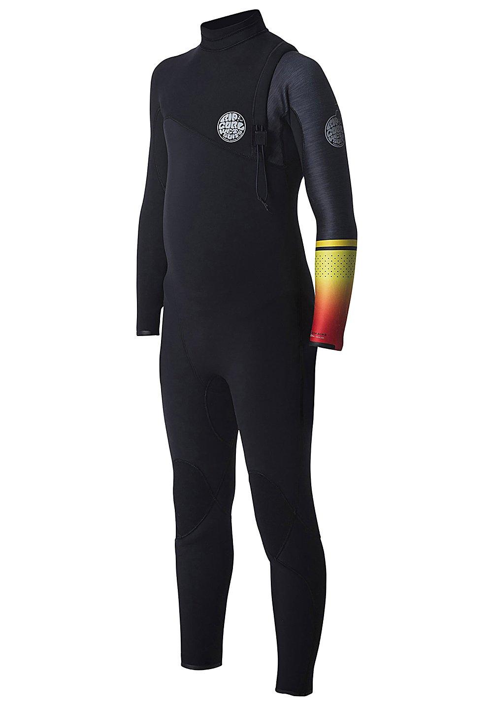 2017 Rip Curl Junior Flashbomb 5/3mm Zip Free Wetsuit Orange WSM7NS Age / Size - 12 Years