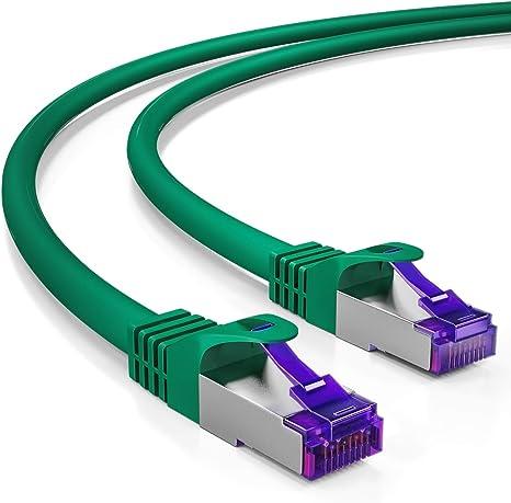 1x Netzwerk-//Patch-Kabel SFTP CAT5 CAT5e grün 1m