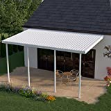 Heritage Patios 16 ft. x 10 ft. White Aluminum Patio Cover (4 Posts / 20 lb. Moderate Snow Areas)