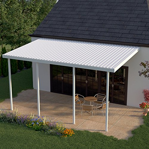 Heritage patios 16 ft w x 10 ft d white aluminum patio for 10 foot porch columns