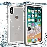 #9: iPhone X Waterproof Case,SunbaYouth IP68 Certified Sensitive Fingerprint,Built-in Screen Drop Resistance Fully Sealed Shock Dirt Snow Proof Cover Waterproof Case for iPhone X (Grey)