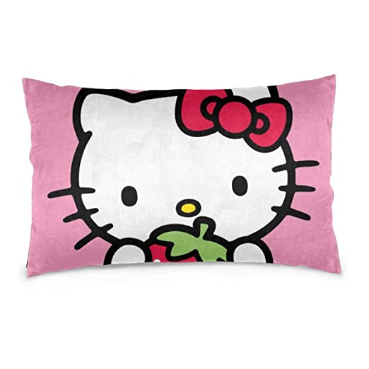 CHLING Fundas de Almohada Hello Kitty con Funda de cojín de ...